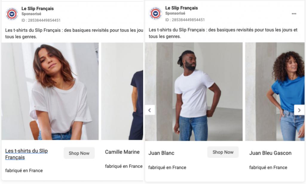 le slip français publicité facebook